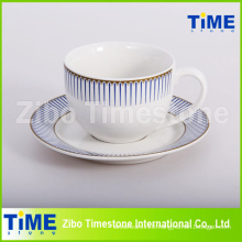 12PC Stoneware 200ml Ceramic Cup and Saucer (91006-008)